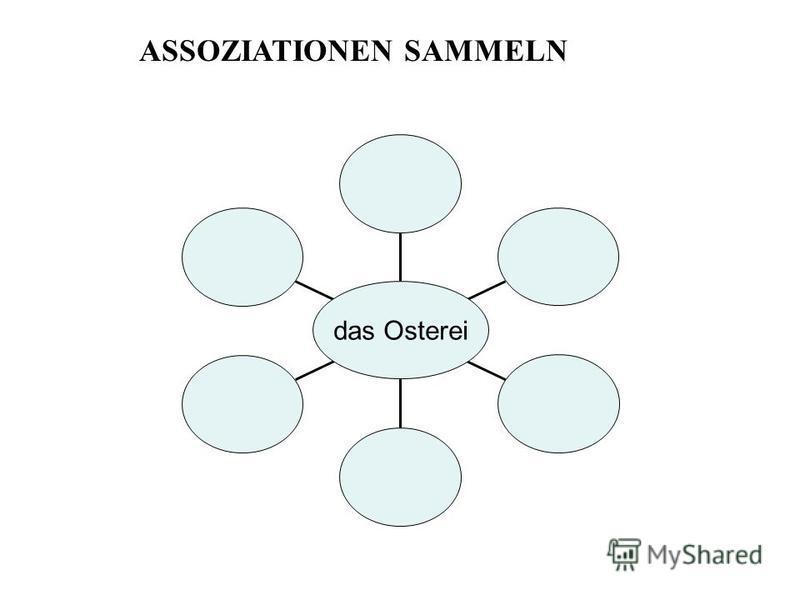 das Osterei ASSOZIATIONEN SAMMELN
