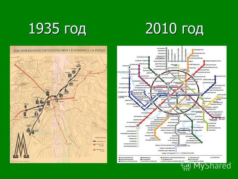1935 год 2010 год 1935 год 2010 год