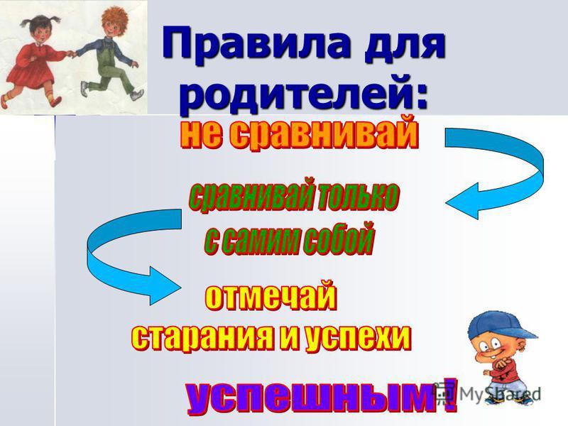 Правила для родителей: