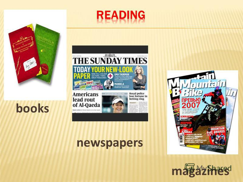books newspapers magazines