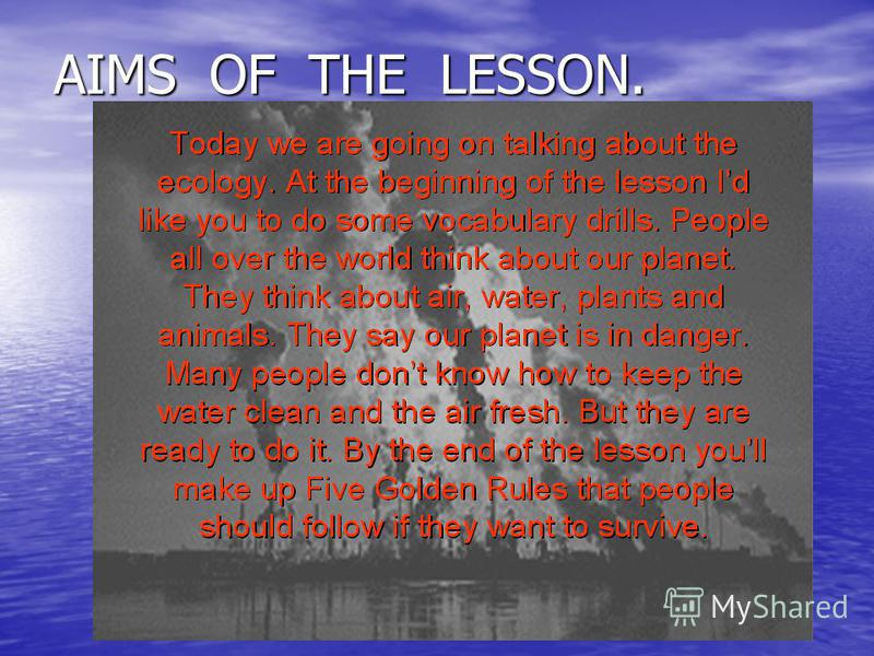 AIMS OF THE LESSON.