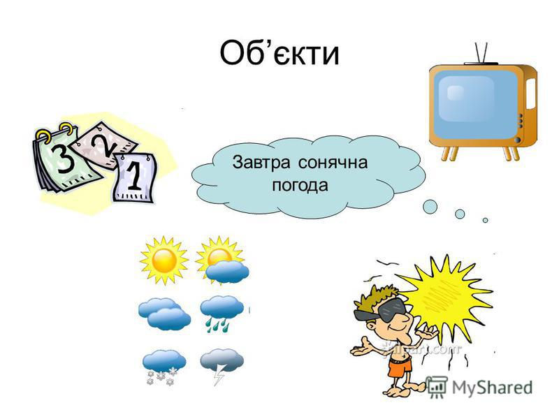 Обєкти Завтра сонячна погода