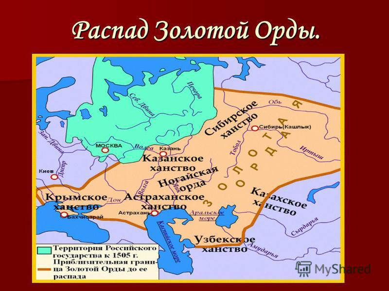 Распад Золотой Орды.