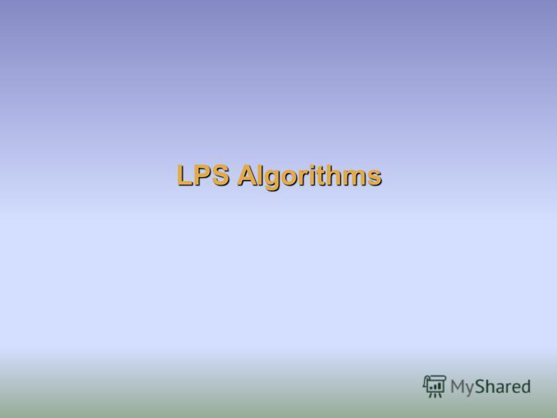 LPS Algorithms