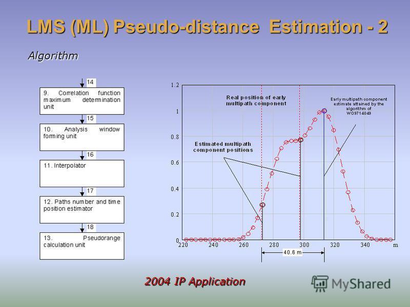 LMS (ML) Pseudo-distance Estimation - 2 Algorithm 2004 IP Application