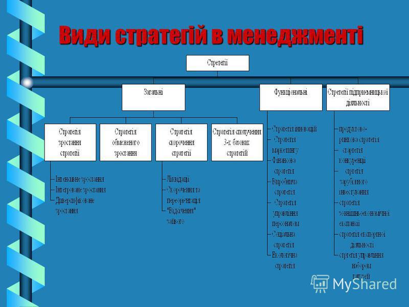 Види стратегій в менеджменті