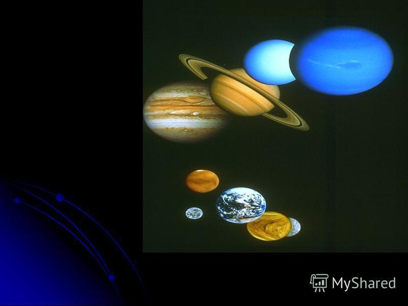 Солнце Солнце- это огромный огненный шар. Оно в 109 раз больше Земли. От Земли до Солнца 150 миллионов километров. Потому солнечные лучи не сжигают, а только согревают и освещают нашу планету. Солнце- это ближайшая к Земле звезда, это центр солнечной