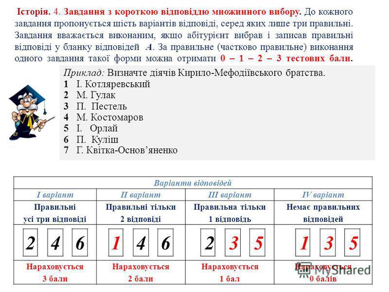 Історія. 3. Завдання на встановлення правильної послідовності. До кожного завдання подано перелік подій, позначених буквами, які потрібно розташувати у правильній послідовності, де перша подія має відповідати цифрі 1, друга – цифрі 2, третя – цифрі 3