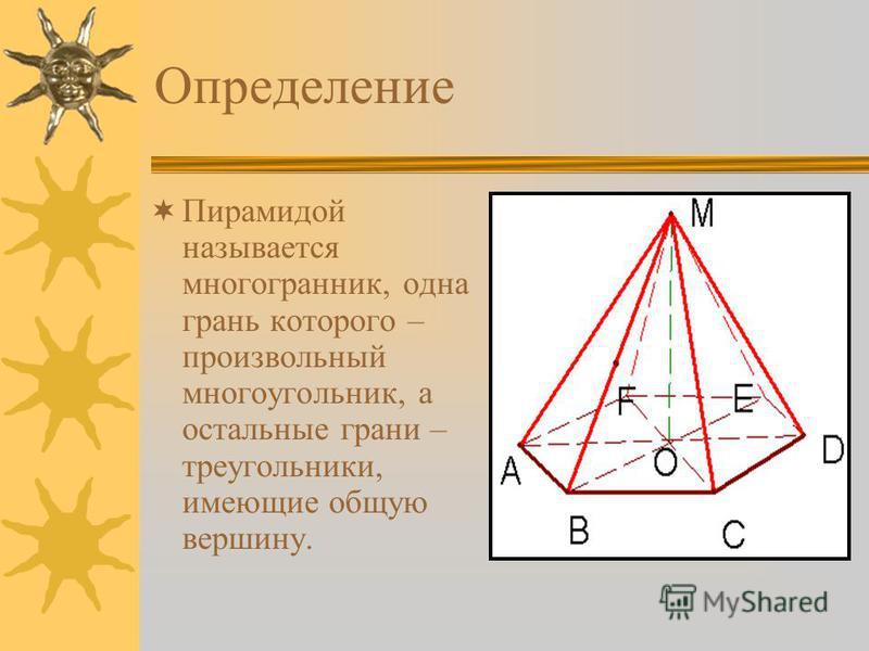 Объем пирамиды Определение. Формулы. Интересные сведения. Задачи.