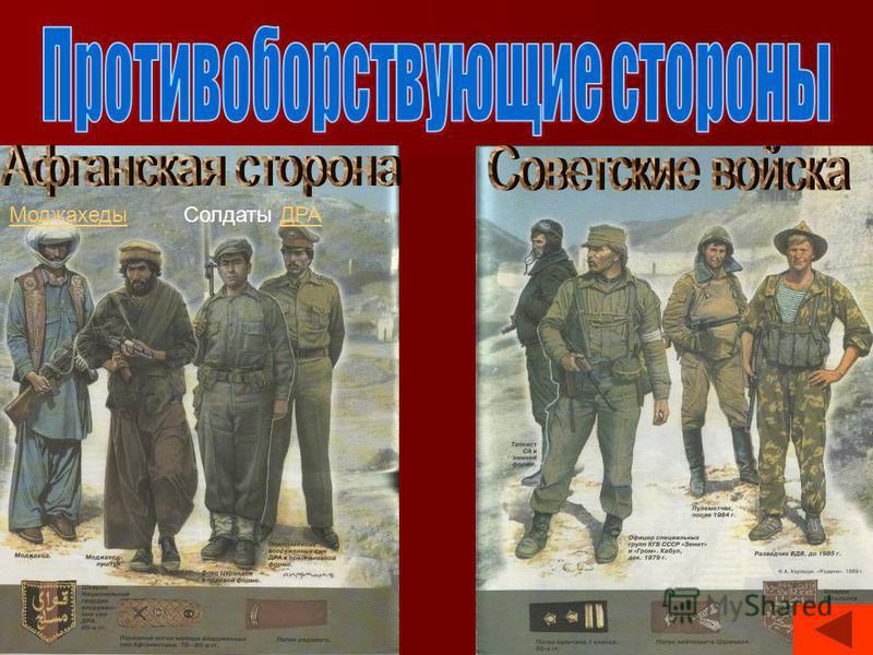 Моджахеды Солдаты ДРАДРА