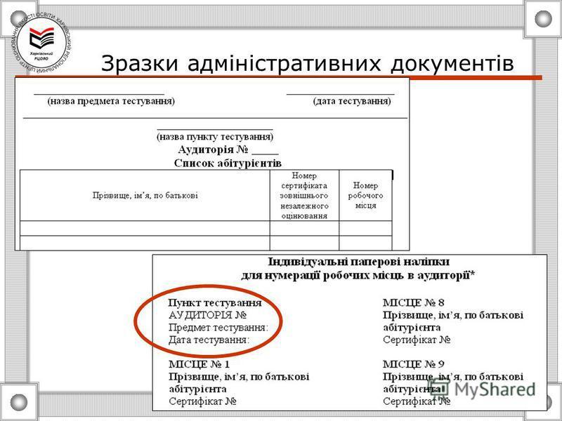 Зразки адміністративних документів