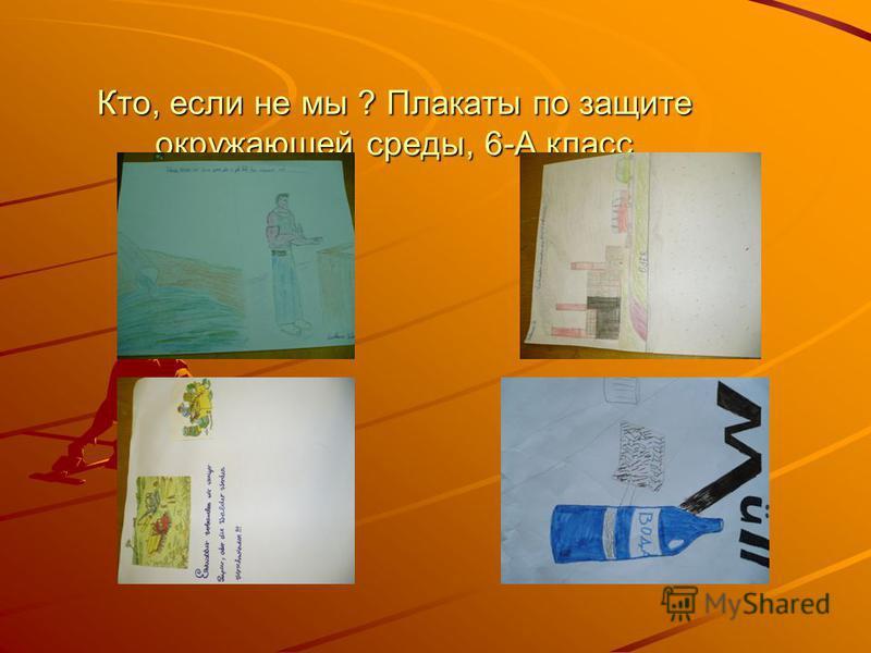 Кто, если не мы ? Плакаты по защите окружающей среды, 6-А класс