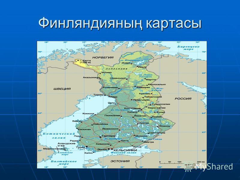 Финляндияның картасы