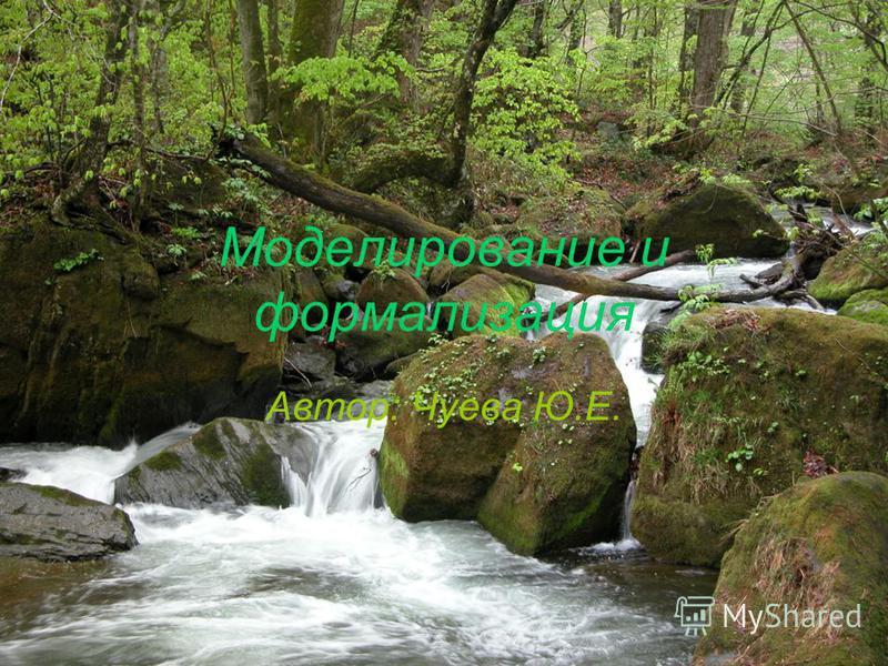 Моделирование и формализация Автор: Чуева Ю.Е.