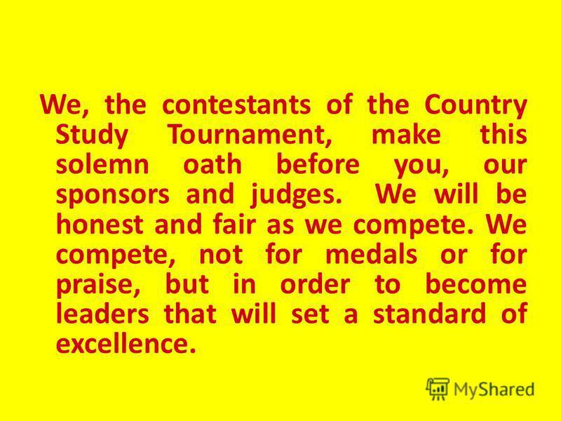 Country Study Tournament Tournament 14 February, 2011