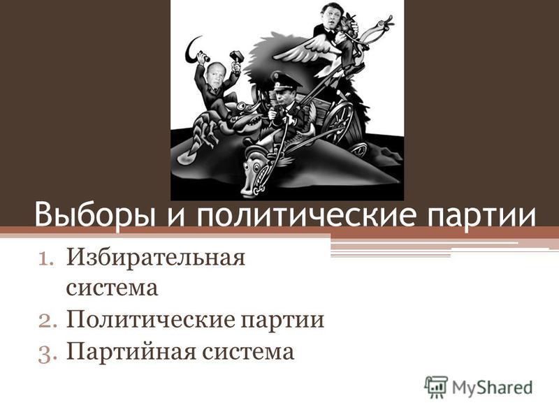 Выборы и политические партии 1. Избирательная система 2. Политические партии 3. Партийная система