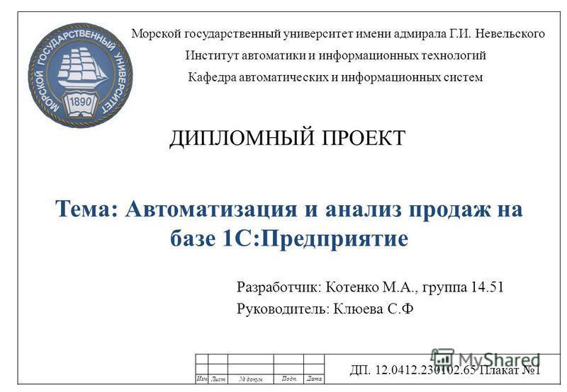 Презентация на тему Разработчик Котенко М А группа  1 Разработчик