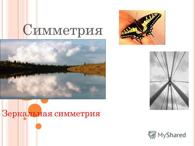 Симметрия Зеркальная симметрия