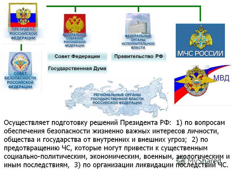 Государственная Дума Совет Федерации Правительство РФ