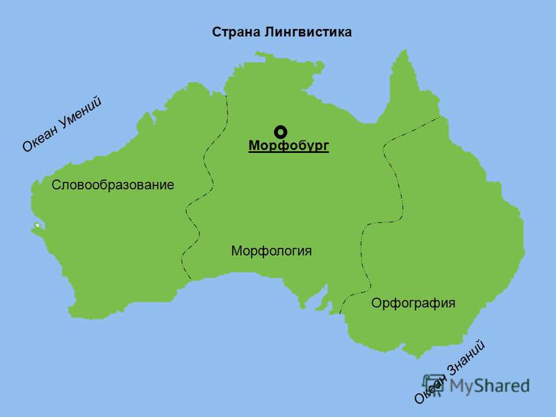 Словообразование Мкорфология Орфоградфия Мкорфобург Океан Умений Океан Знаний Страна Лингвистика