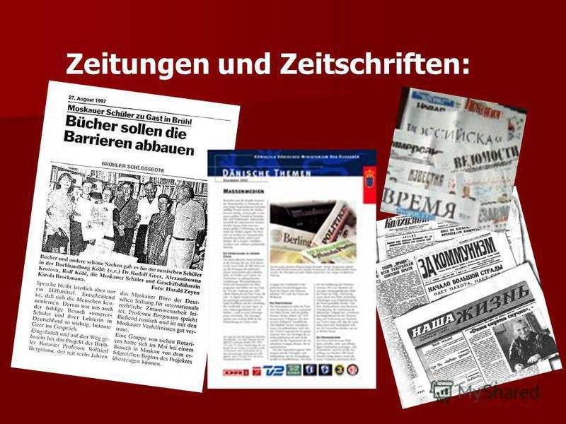 Zeitungen und Zeitschriften: