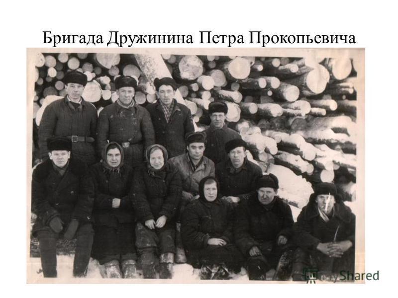 Бригада Дружинина Петра Прокопьевича