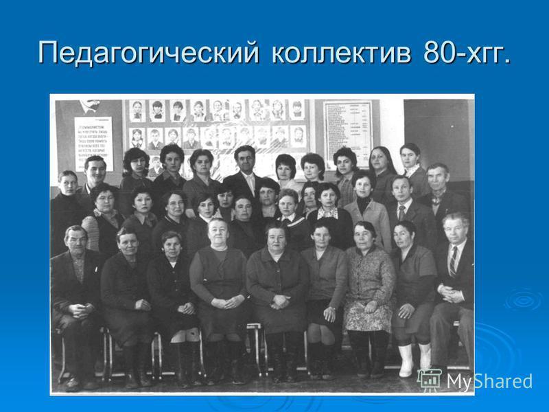 Педагогический коллектив 80-хгг.