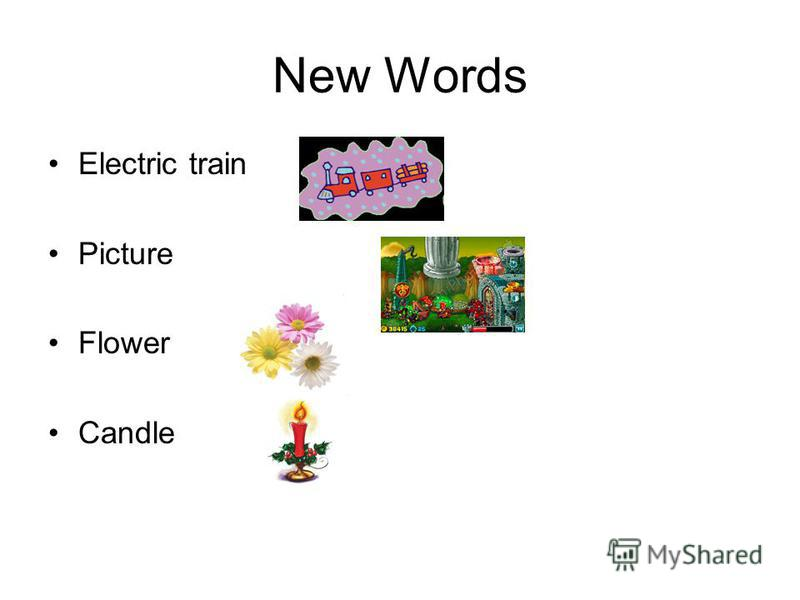 New Words Electric train Picture Flower Candle