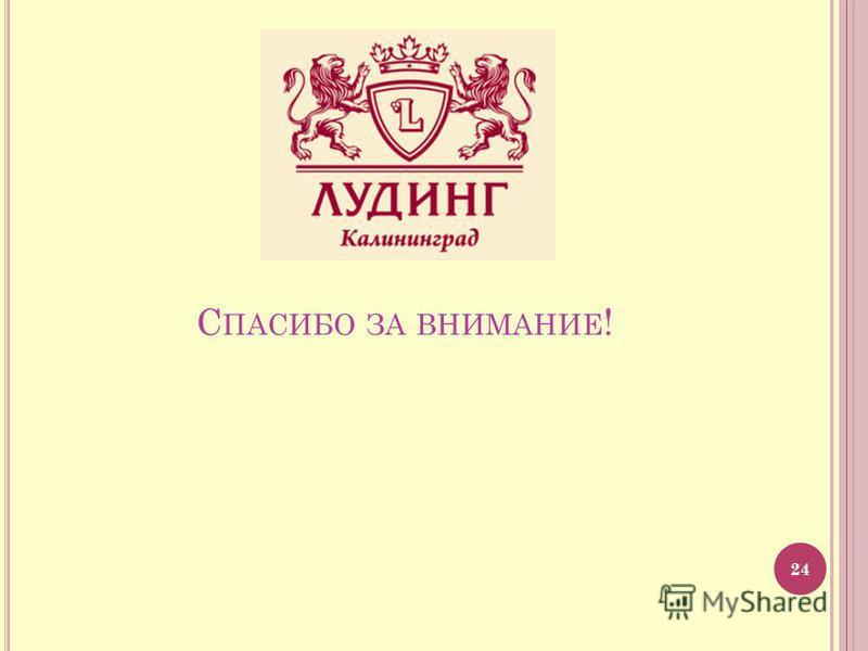 С ПАСИБО ЗА ВНИМАНИЕ ! 24
