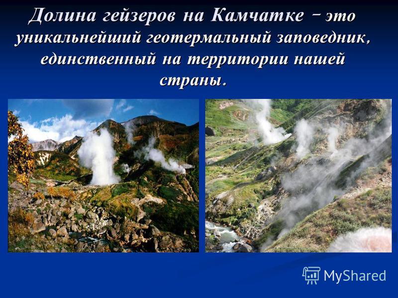 Долина гейзеров на Камчатке - это уникальнейший геотермальный заповедник, единственный на территории нашей страны.