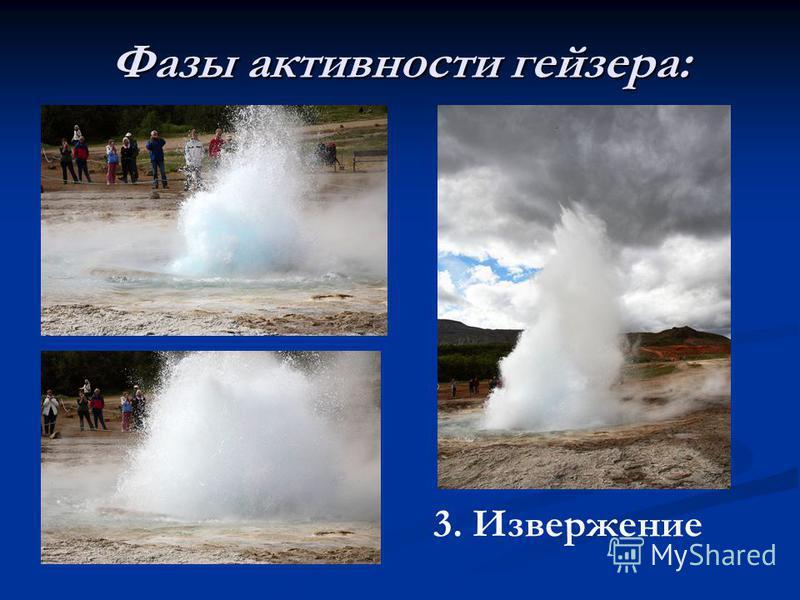 Фазы активности гейзера: 3. Извержение