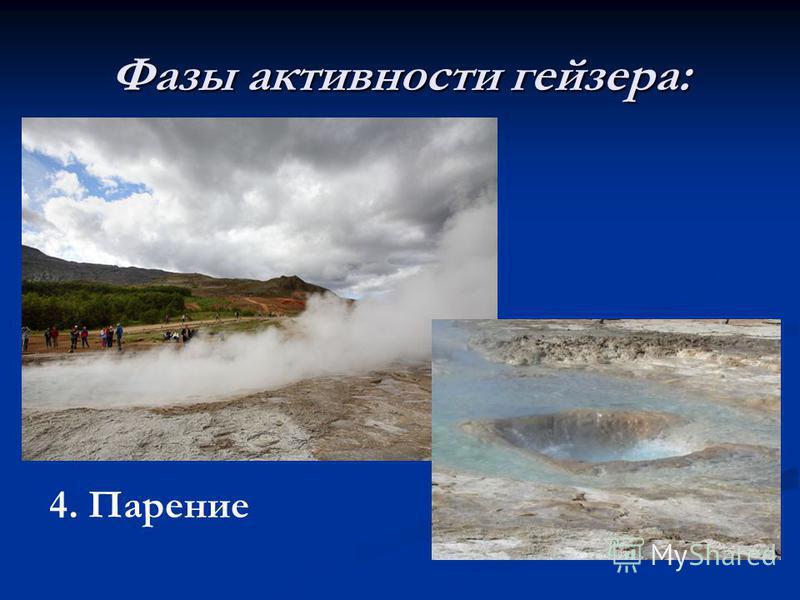 Фазы активности гейзера: 4.