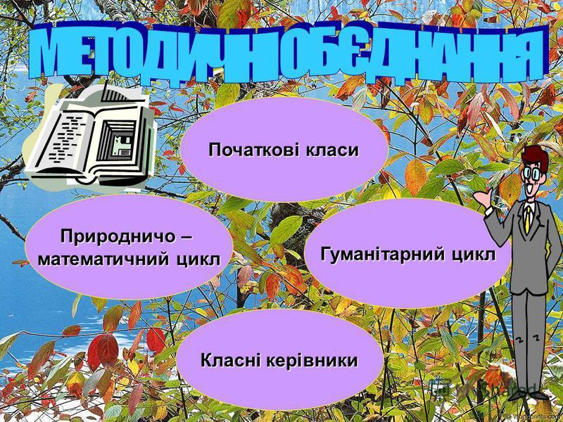 Початкові класи Початкові класи Природничо – Природничо – математичний цикл математичний цикл Гуманітарний цикл Гуманітарний цикл Класні керівники Класні керівники