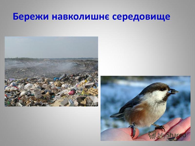 Бережи навколишнє середовище