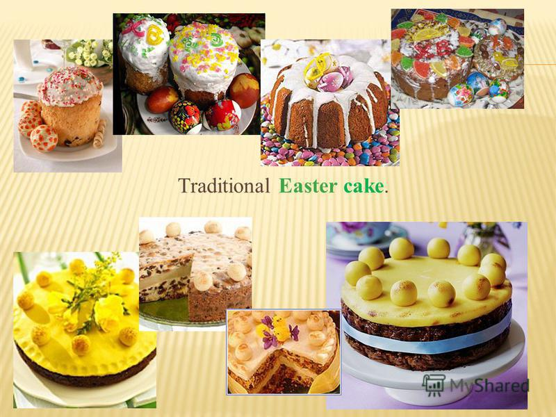 Traditional Easter cake.