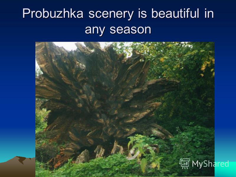 Probuzhka scenery is beautiful in any season