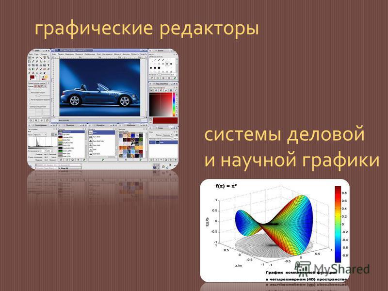 графические редакторы системы деловой и научной графики