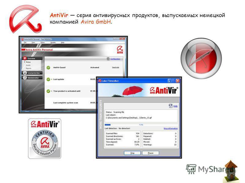 AntiVir серия антивирусных продуктов, выпускаемых немецкой компанией Avira GmbH.