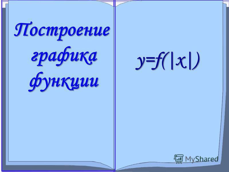 y=f(|x|) Построение графика функции
