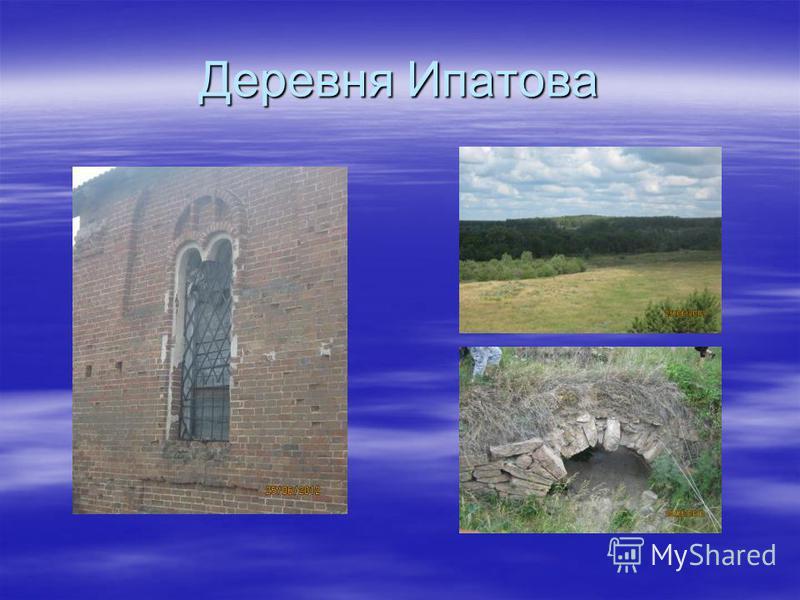 Деревня Ипатова