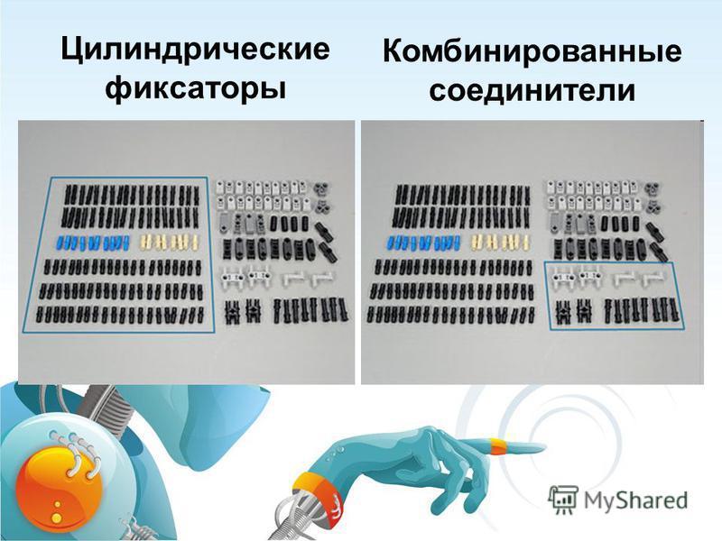 Цилиндрические фиксаторы Комбинированные соединители