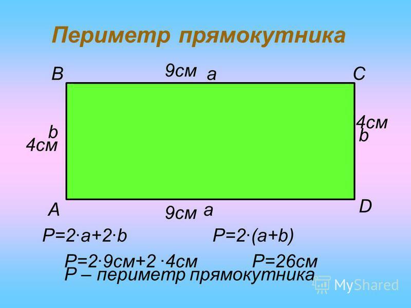 ПРЯМОКУТНИК a a bb A BC D