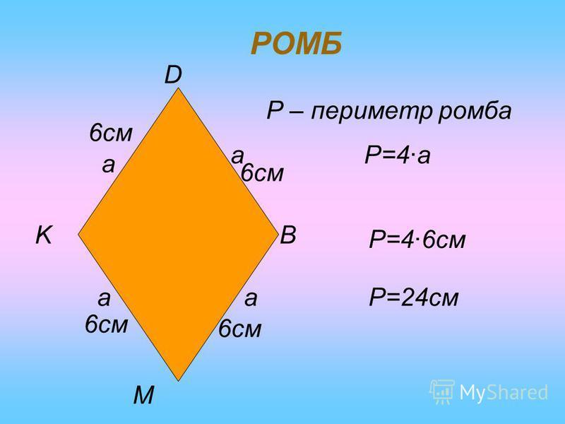 ПАРАЛЕЛОГРАМ A BC Da a b b Р – периметр паралелограма. Р=2·a+2·b Р=2·(a+b) 5см 7см 5см Р=2·7см+2·5смP=24см