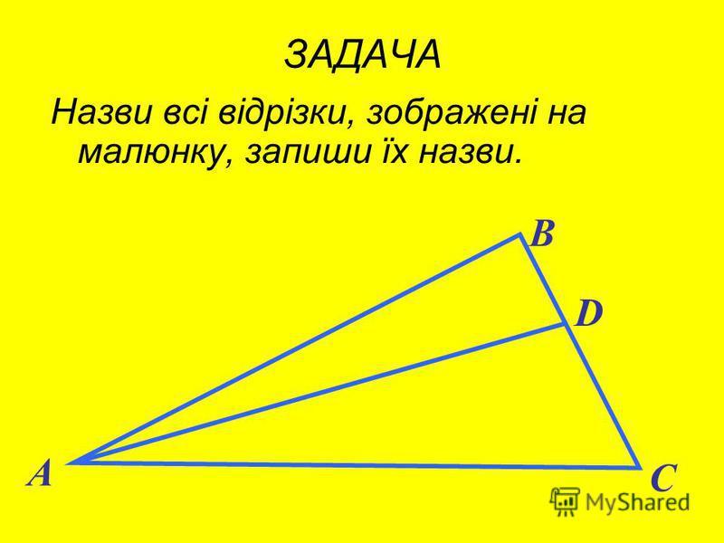 а B D К A ЗАДАЧА Чи перетинає пряма відрізок ? C О М