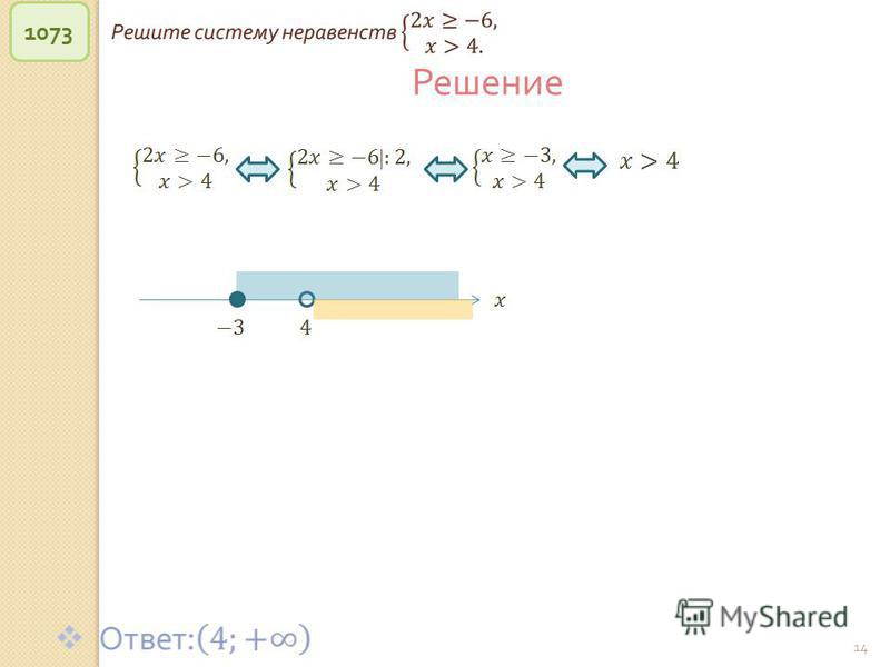 © Рыжова С. А. 14 1073 Решение
