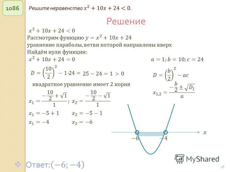 © Рыжова С. А. 18 1086 Решение