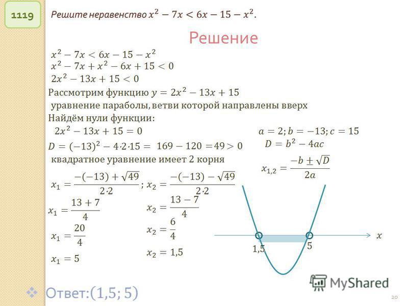 © Рыжова С. А. 20 1119 Решение