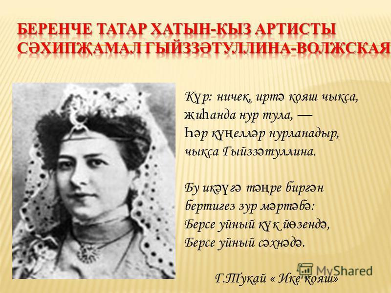 1906 елның 22 нче декабре- татар театры туган көне.