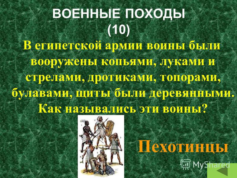 ЖИЗНЬ ЕГИПТЯН (50) Назовите все категории людей, живших в Древнем Египте Фараон, вельможи, писцы, земледельцы и ремесленники, рабы