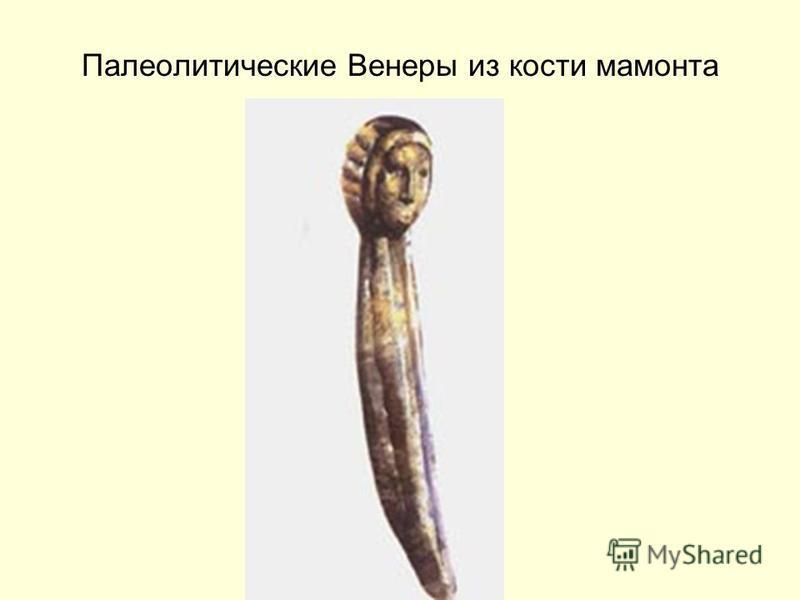 Палеолитические Венеры из кости мамонта
